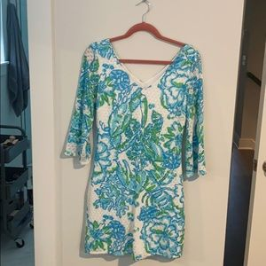 Lilly Pulitzer 3/4 length sleeve knit dress